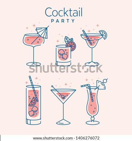 Occhiali mojito estate cocktail Foto d'archivio © DenisMArt