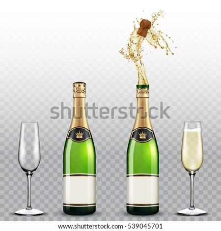 şişe şampanya cam metin romantik şarap şişesi Stok fotoğraf © Arkadivna