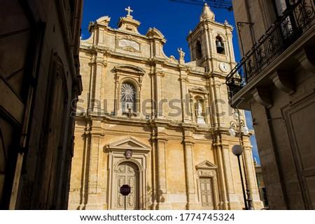 Parish Church of St. Catherine at Iz-Zejtun at Malta Stock photo © boggy