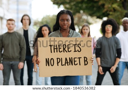 Kép afroamerikai nők tart plakát készít Stock fotó © deandrobot