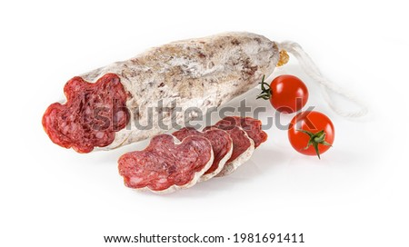 Tasty salami with white mold Stock photo © grafvision
