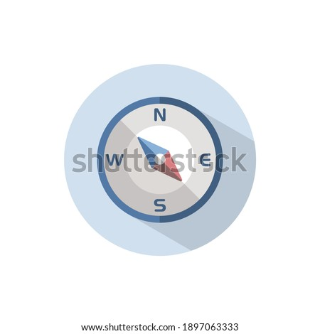 Compass. South east direction. Icon. Weather and map glyph vector illustration Stock photo © Imaagio