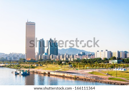 Yeouido Park in Seoul, Korea Stock photo © dmitry_rukhlenko