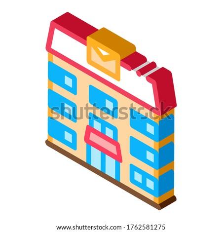 Oficina de correos transporte empresa icono vector Foto stock © pikepicture