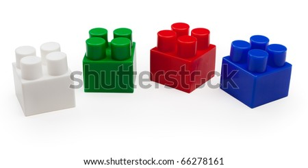 Veelkleurig speelgoed bakstenen toren houten speelgoed blokken Stockfoto © goir