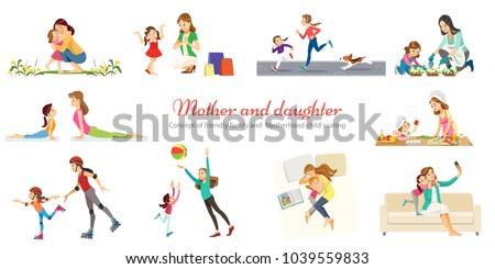 Anya gondoskodó család szabadidő anyaság vektor Stock fotó © robuart