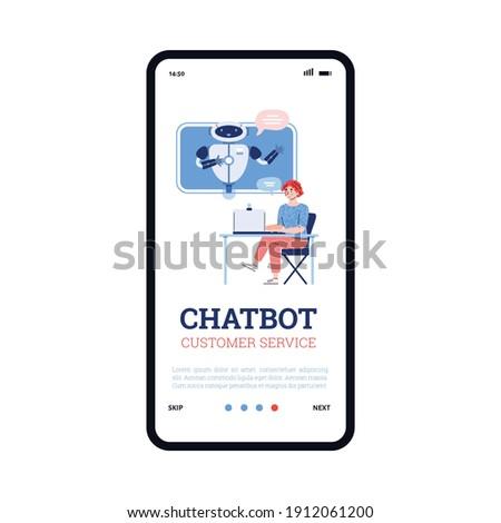 Chatbot assistant app interface template. Stock photo © RAStudio