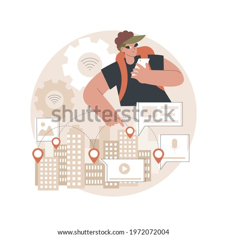 Smart destinations project concept vector illustration Stock photo © RAStudio