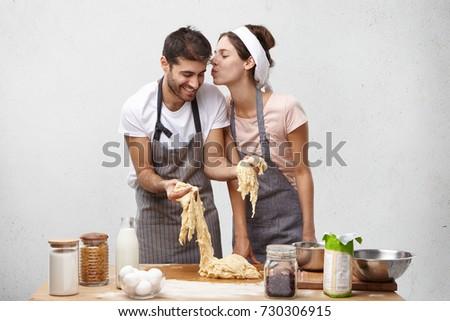 привязчивый женщину целоваться муж белый еды Сток-фото © photography33
