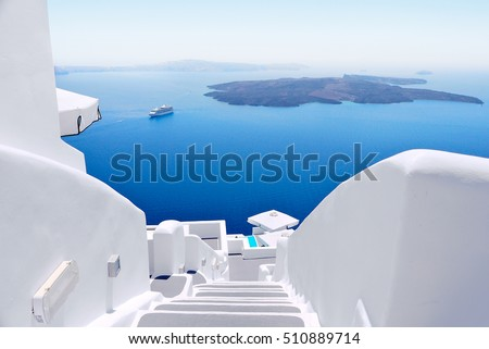 Santorini caldera Stock photo © ajlber