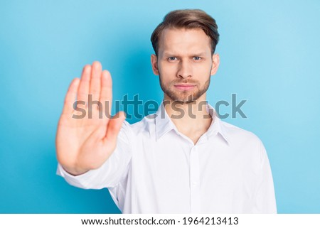 Businessman ignoring the answer against a white background Stock photo © wavebreak_media