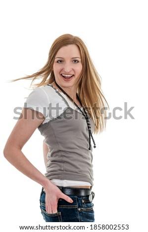 вид сзади женщину рук бедро белый стороны Сток-фото © wavebreak_media