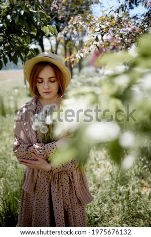 yaz · açık · havada · bağbozumu · portre · kadın - stok fotoğraf © pekour