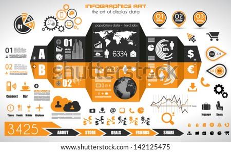 vektor · terv · szett · infografika · elemek · világtérkép - stock fotó © davidarts