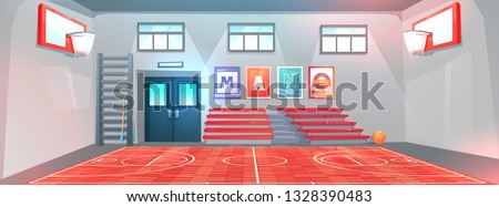 interior of a gym at school stock photo © michaklootwijk