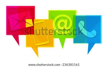 Fresco projeto ícones gráfico Foto stock © Wetzkaz