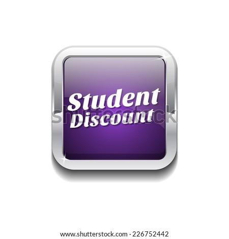 student deal purple vector icon button stock photo © rizwanali3d