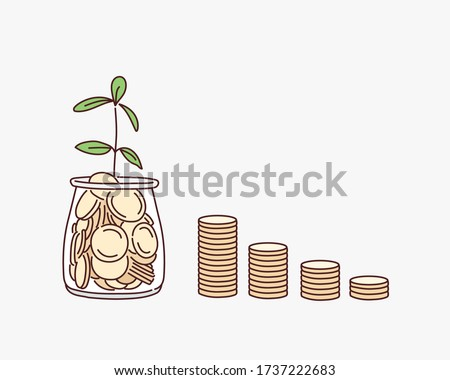 Money Investment concept with Doodle design style saving solution Stock photo © DavidArts