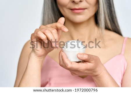Prachtig asian model heldere make zonnebrand Stockfoto © deandrobot