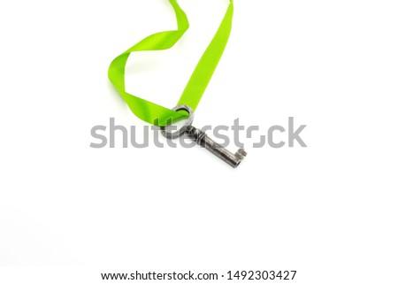 レトロな · 青銅 · ドアの鍵 · 孤立した · 白 · 古い - ストックフォト © popaukropa