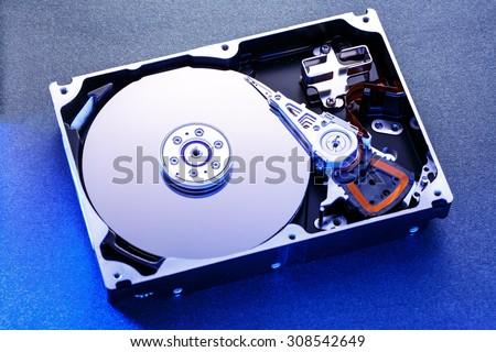 hard disk memory close-up Stock photo © OleksandrO
