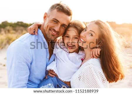 ver · de · volta · belo · família · pequeno · filha - foto stock © deandrobot