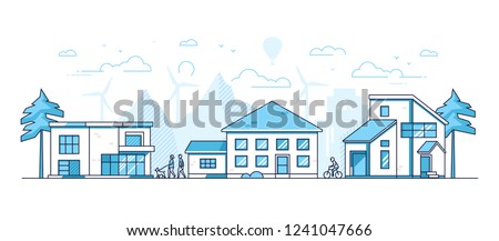 cycling   colorful line design style vector illustration stock photo © decorwithme