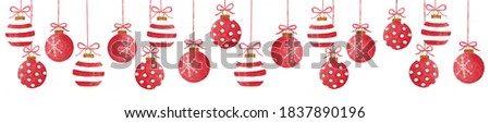 watercolor red christmas ball with bow isolated on a white background stock photo © natalia_1947