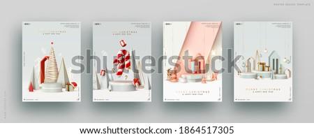 Creatieve Rood geometrisch patroon christmas decoratie Stockfoto © SArts