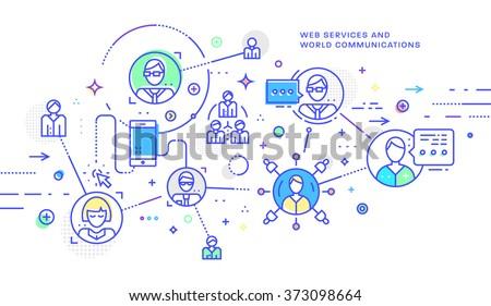 personal development   modern line design style vector illustration stock photo © decorwithme