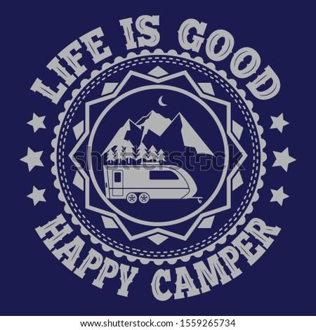 camping · aventura · distintivo · emblema · design · gráfico - foto stock © jeksongraphics