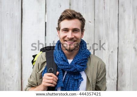 若い男 リュックサック ハンサム 立って 戻る 男 ストックフォト © ra2studio