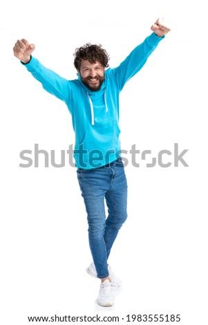 молодые случайный человека шаги вперед Сток-фото © feedough
