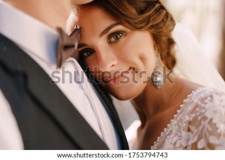 Stock fotó: Elegáns · menyasszony · vőlegény · tart · vicces · gyík
