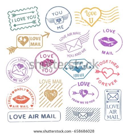 Mavi posta zarf grunge stil yalıtılmış Stok fotoğraf © kyryloff