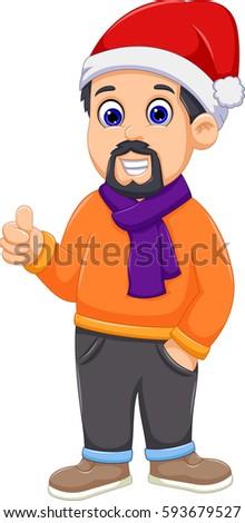 Gelukkig kind handen omhoog winter kleding Stockfoto © RAStudio