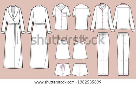 Set of womens homewear, sleepwear and underwear Stock photo © netkov1