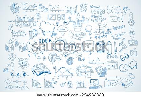 Negócio plano elementos mãos projeto Foto stock © makyzz