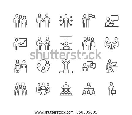 Presentation Related Vector Line Icon Stock photo © smoki