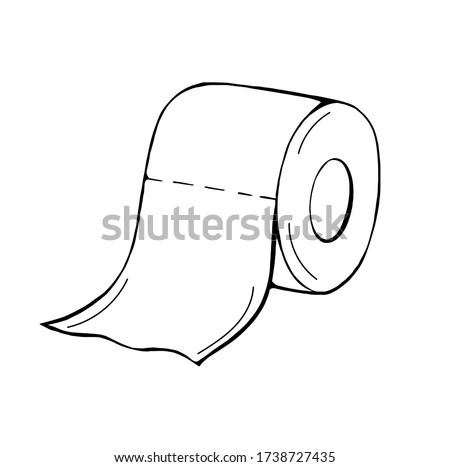 Bathroom hand drawn vector doodles round illustration. Bath room poster design Stock photo © balabolka