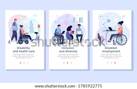 Social adaptation of disabled people concept vector illustration Stock photo © RAStudio
