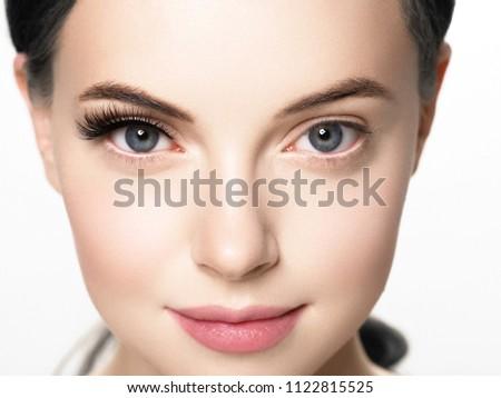 mooie · vrouwelijke · oog · schone · huid · dagelijks - stockfoto © serdechny