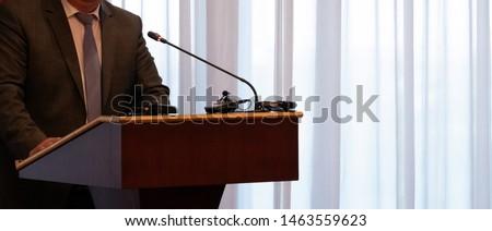 Işadamı podyum konferans soyut dijital bileşik Stok fotoğraf © wavebreak_media