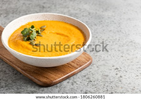 Krem kabak çorba gri diyet vejetaryen Stok fotoğraf © Illia