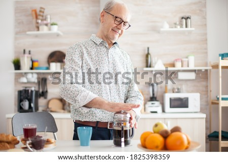 человека кофе французский прессы кружка Сток-фото © wavebreak_media