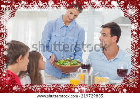 Zijaanzicht meisje vader vergadering eettafel home Stockfoto © wavebreak_media