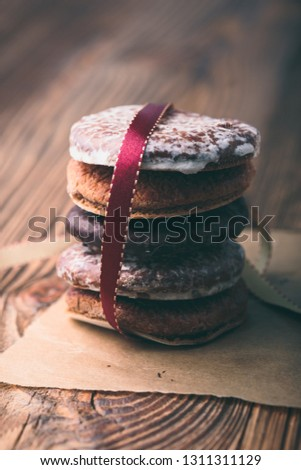 Pochi pan di zenzero cookies felice Natale Foto d'archivio © przemekklos