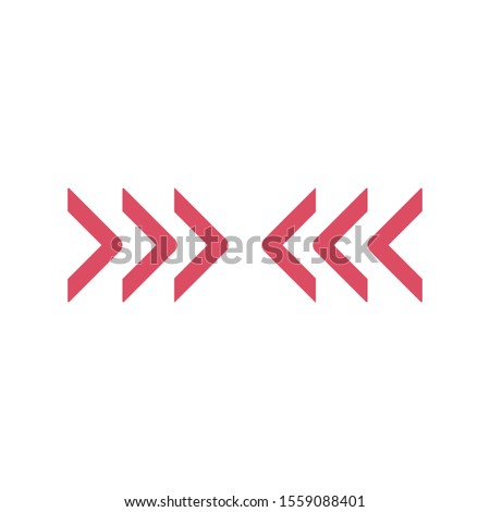 Triple Chevron Arrows directed horizontally towards each other. Stock Vector illustration isolated o Stock photo © kyryloff