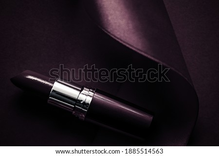 Luksusowe szminki jedwabiu wstążka ciemne fioletowy Zdjęcia stock © Anneleven