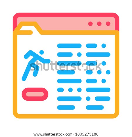informacji · folderze · ikona · wektora · ilustracja - zdjęcia stock © pikepicture
